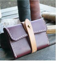 手作り革製品コインケース・ワイド