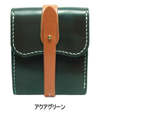 手作り革製品BA三折りウォレット小(カラー)