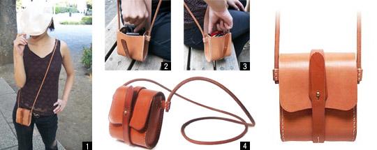 手作り革製品ミニショルダーバッグ画像2