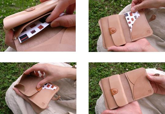 手作り革製品BAカードコインケース