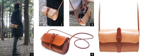 手作り革製品BAショルダーバッグワイド画像2