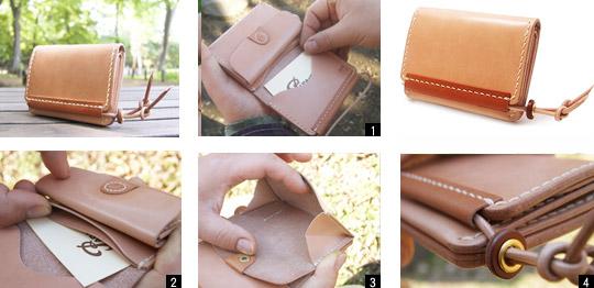 手作り革製品CRコインケース(ナチュラル)