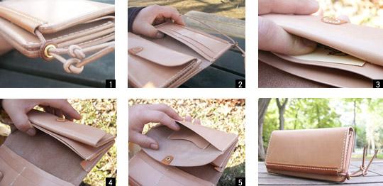 手作り革製品CRウォレット(大)詳細
