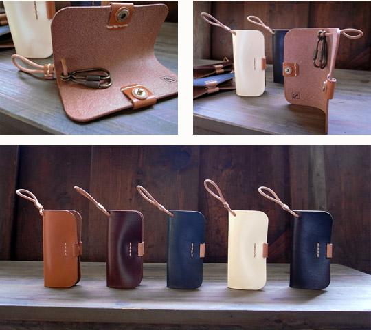 手作り革製品キーケース(カラー)画像