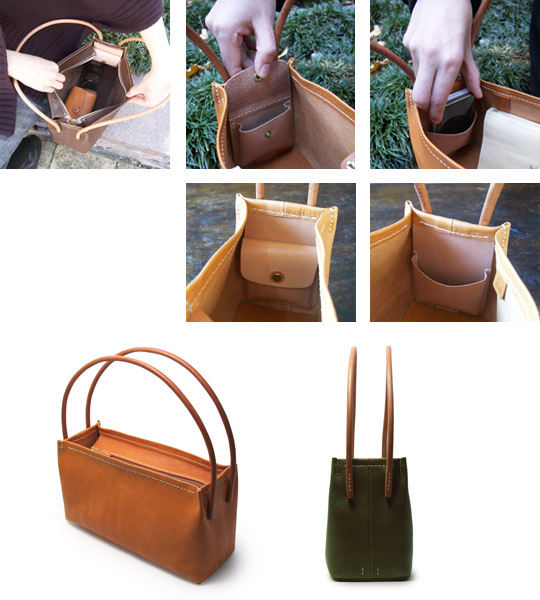 手作り革製バッグ(鞄)画像