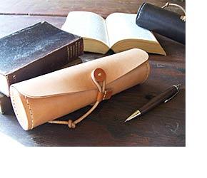 手作り革製品LPペンケース画像1