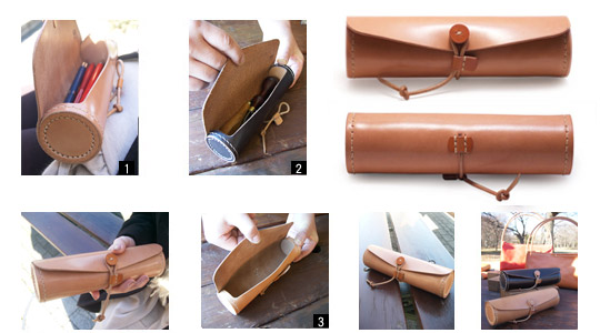 手作り革製品LPペンケース画像2